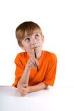 Boy with a pencil Royalty Free Stock Photography