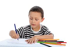 Boy with pencil Royalty Free Stock Photography
