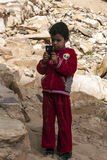 Boy of Petra Stock Images
