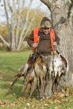 Boy Pheasant Hunting Stock Photo