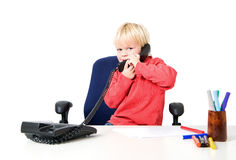 Boy on the phone Royalty Free Stock Image