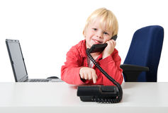 Boy on the phone Stock Photography