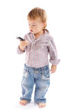 Boy with phone Royalty Free Stock Photography