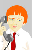 Boy with phone Stock Images