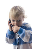 Boy on phone royalty free stock photography