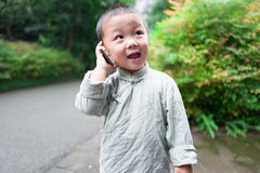 Boy on phone Royalty Free Stock Photo