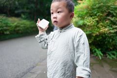 Boy on phone Royalty Free Stock Images