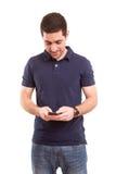 Boy at the phone Royalty Free Stock Photos