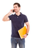 Boy at the phone Royalty Free Stock Image