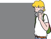 Boy on phone Stock Photos
