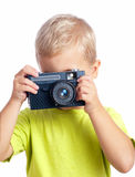 Boy photographed Royalty Free Stock Images