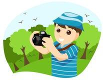 Boy Photographer Stock Image