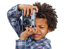 Boy photographer Royalty Free Stock Photos