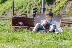 Boy photogrepher Stock Image
