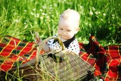 Boy on picnic Stock Photos