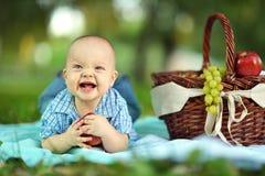 Boy  at the picnic Royalty Free Stock Photos