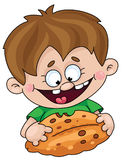 Boy with a pie. Illustration of a boy with a pie Royalty Free Stock Photography
