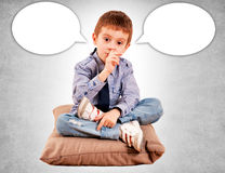 The boy on the pillow Stock Image