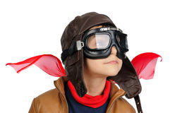 Boy pilot Royalty Free Stock Images
