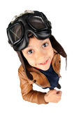 Boy pilot Stock Image