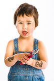Boy with Pincers Stock Image