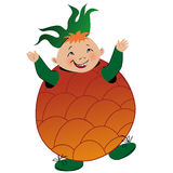 Boy in pineapple suit Royalty Free Stock Photo