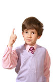 The  boy in a pink shirt Royalty Free Stock Photo