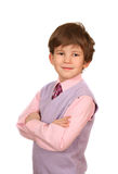 The boy in a pink shirt Stock Photos