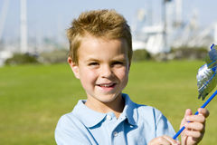 Boy pinwheel Stock Image