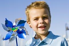 Boy pinwheel Stock Photos
