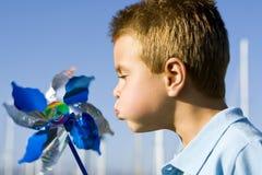 Boy pinwheel Royalty Free Stock Photography