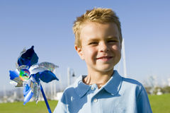 Boy pinwheel Royalty Free Stock Photo