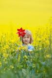 Boy with pinwheel Stock Photography