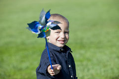 Boy Pinwheel Royalty Free Stock Photos