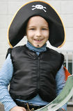 Boy pirate. Boy dress-up in pirate costume Stock Images