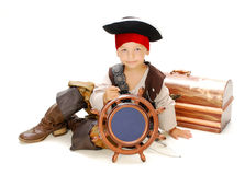 Boy pirate. Boy in carnival costume pirate Royalty Free Stock Photos