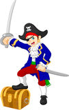 Boy pirate cartoon Stock Image