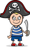 Boy in pirate costume cartoon Royalty Free Stock Photo