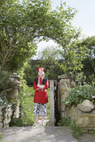 Boy In Pirate Costume Standing In Garden Royalty Free Stock Photography
