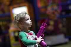 Boy with pistol Royalty Free Stock Photos