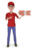 Boy with a pizza Royalty Free Stock Photography