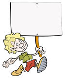 Boy with placard Stock Photography