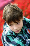 Boy in plaid shirt Royalty Free Stock Photo