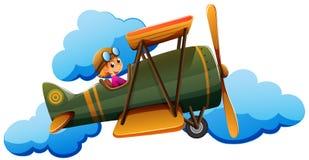 A boy on a plane Stock Photo