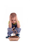 Boy and plant Royalty Free Stock Photography