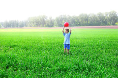 Boy play with ball Royalty Free Stock Photo