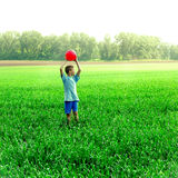 Boy play with a Ball Stock Photos