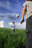 boy play in ball Stock Photo