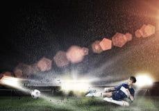 Boy play football Royalty Free Stock Photos