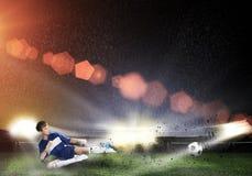 Boy play football Stock Photography